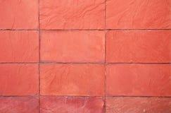 老红色石墙 库存照片