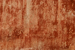 老红色被绘的墙壁 免版税库存照片