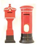 老红色邮箱/英国岗位箱子 库存照片