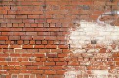 老红色/褐色砖墙背景纹理 库存照片