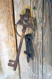 老纪念碑金属钥匙 库存图片