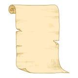老纸卷向量 免版税库存照片