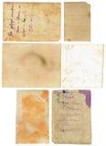 老纸在与裁减路线的白色背景设置了被隔绝 库存照片