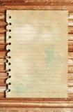 老纸张和棕色木纹理 库存照片