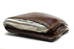 老纸张无用的钱包 免版税库存照片