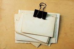 老纸张照片 免版税图库摄影