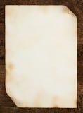 老纸张页与卷曲的边缘的 免版税库存图片