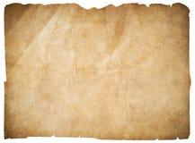 老纸或空白的海盗映射隔绝与裁减路线 免版税图库摄影