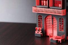 老纸房子模型 库存图片