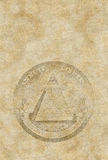 老纸金字塔页 免版税库存图片