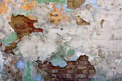 老纹理三变形墙壁 库存照片