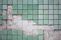 老纹理瓦片墙壁 免版税库存图片