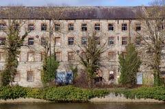 老纺织厂 免版税库存照片