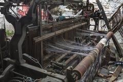 老纺织机器 免版税库存图片