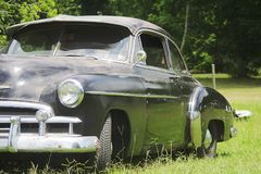 老经典汽车和卡车在迪克松得克萨斯 库存图片