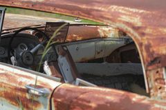 老经典汽车和卡车在迪克松得克萨斯 免版税库存图片