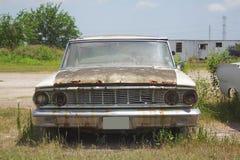 老经典汽车和卡车在迪克松得克萨斯 图库摄影