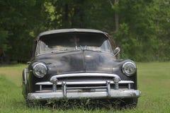 老经典汽车和卡车在迪克松得克萨斯 库存照片