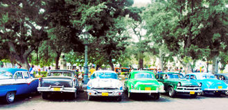 老经典汽车在哈瓦那,古巴 免版税图库摄影