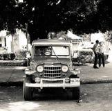 老经典汽车在哈瓦那,古巴 免版税库存图片