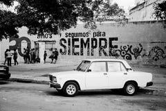 老经典汽车在哈瓦那,古巴 图库摄影