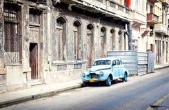 老经典汽车在哈瓦那,古巴 库存图片