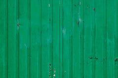 老绿色铁被绘的容器 免版税图库摄影