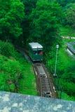 老缆索铁路在全国Skansen公园,瑞典 库存照片