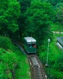 老缆索铁路在全国Skansen公园,瑞典 库存图片