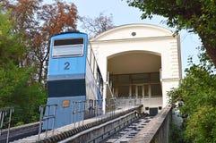老缆索铁路,萨格勒布,克罗地亚 免版税库存图片