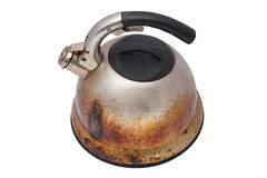 老罐生锈的茶 免版税图库摄影