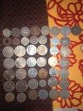 老罕见的硬币 免版税图库摄影