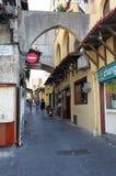 老罗得斯城镇 希腊 库存照片