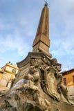 老罗马喷泉 图库摄影