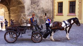 老罗马尼亚小室 免版税库存照片