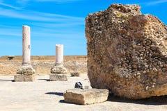 老罗马帝国废墟在迦太基-突尼斯 免版税库存照片