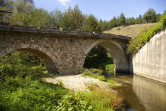 老罗马帝国桥梁 免版税库存照片