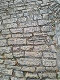 老罗马鹅卵石道路 免版税库存照片