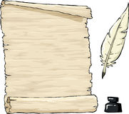 老羊皮纸 库存例证