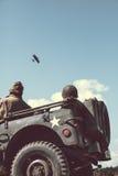老美国军队吉普 免版税库存图片