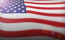老美国国旗荣耀 免版税图库摄影
