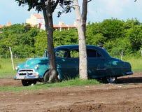 老美国汽车在古巴 免版税库存图片