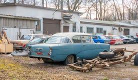 老美国汽车大约1950年 库存照片
