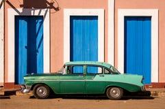 老美国汽车,古巴 库存照片