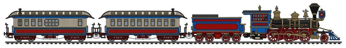 老美国狂放的西部蒸汽火车 图库摄影