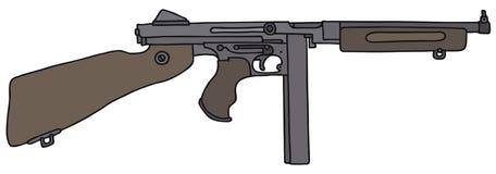 老美国自动炮 免版税图库摄影