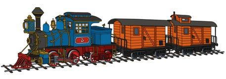 老美国蒸汽火车 免版税库存图片