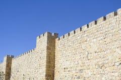 老耶路撒冷城市墙壁。 免版税库存图片