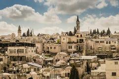 老耶路撒冷市视图 免版税库存照片