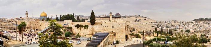 老耶路撒冷,泪花墙壁  库存图片